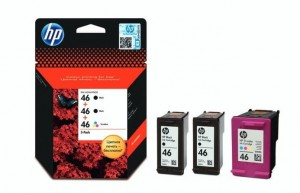 HP Inc. HP 46 3-pack 2xBlack + 1xColour F6T40AE