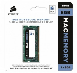 Corsair DDR3 SODIMM  8GB/1600 Apple Qualified