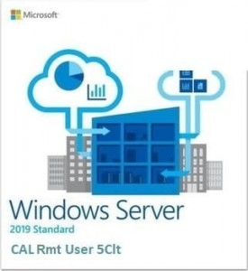 Dell #Dell ROK Win Srv 2019 CAL Rmt Dsktp User 5Clt