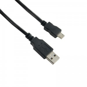 4world Kabel MikroUSB 0.8 m; czarny
