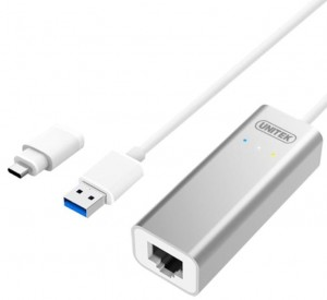 Unitek Adapter USB3.0/TYP-C do Gigabit; Y-3464