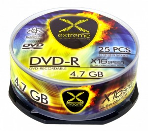 Extreme DVD-R 4,7 GB x16 CAKE BOX 25