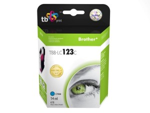 TB Print Tusz do Brother LC123  TBB-LC123C CY