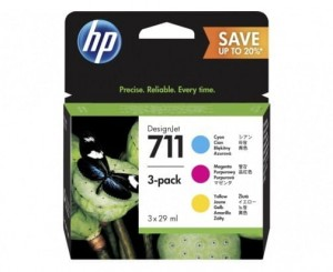 HP Inc. 711 29ml 3-Pack CMY P2V32A
