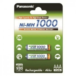Panasonic AKUMULATORY NI-MH 930 MAH 2XAAA HIGH CAPACITY
