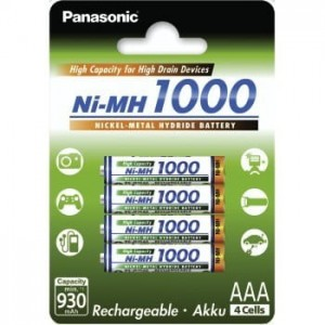 Panasonic AKUMULATORY NI-MH 930 MAH 4XAAA HIGH CAPACITY
