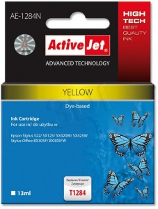 Tusz ActiveJet AE-1284N Yellow do drukarki Epson T1284