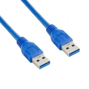 4world Kabel USB 3.0 AM-AM 5,0m niebieski
