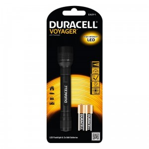 Duracell Latarka LED VOYAGER EASY-1, gumowy grip + 2x AA