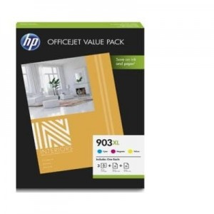 HP Inc. 903XL 3-Pack CMY 1CC20AE