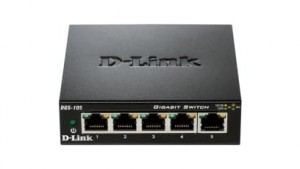D-Link Switch 5-port 10/100/1000Gigabit Metal Housing Desktop