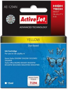 Tusz ActiveJet AE-1294N Yellow do drukarki Epson T1294