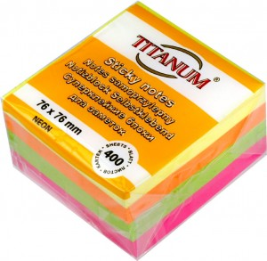 Notes samoprzylepny Titanum 76x76mm 400K NEON