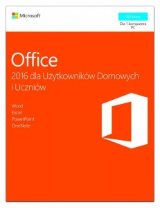 Microsoft Office 2016 Home & Student PL Win 32-bit/x64 P2  79G-04609. Stary P/N: 79G-04328