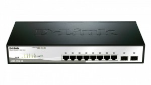 D-Link DGS-1210-10 10port Gbit Smart Switch, 2x SFP